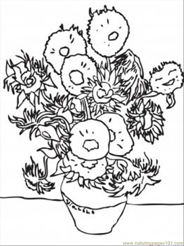 Van Gogh Coloring Pages Pleasing Van Gogh Coloring Pages  Van Gogh Gallery